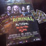 Criminal tocará por primera vez en Pucón (21 abril)