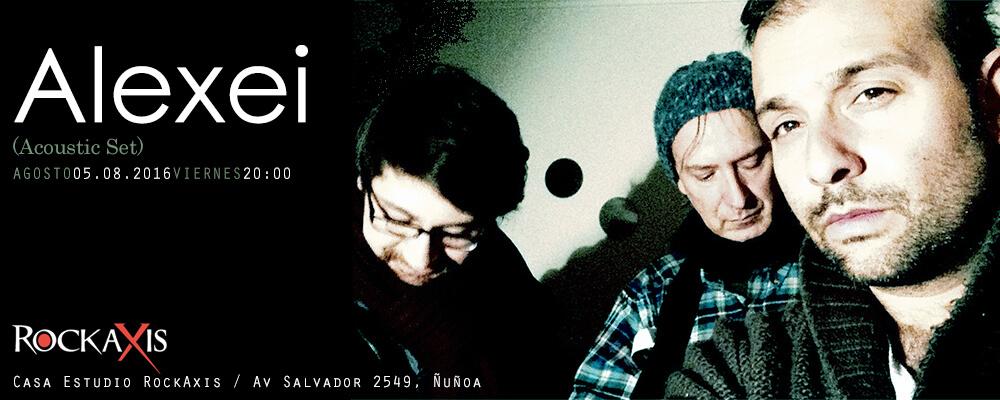 Alexei en sesión acústica en casa Rockaxis, presenta su álbum «Sin Nombre!»  (5 agosto)