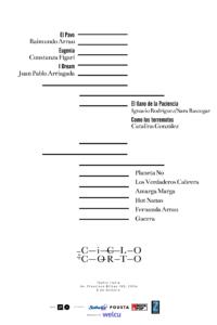 lineup Ciclo del Corto www.sonidosocultos.com