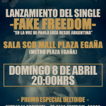 "Delta presenta en vivo nuevo single ""Fake Freedom"" (8 abril)"