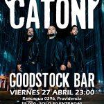 Catoni presenta en vivo nueva formación (27 abril)