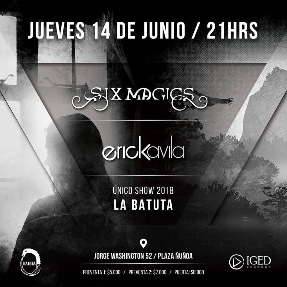 Six Magics y Erick Ávila realizan único show 2018 en La Batuta (14 junio)