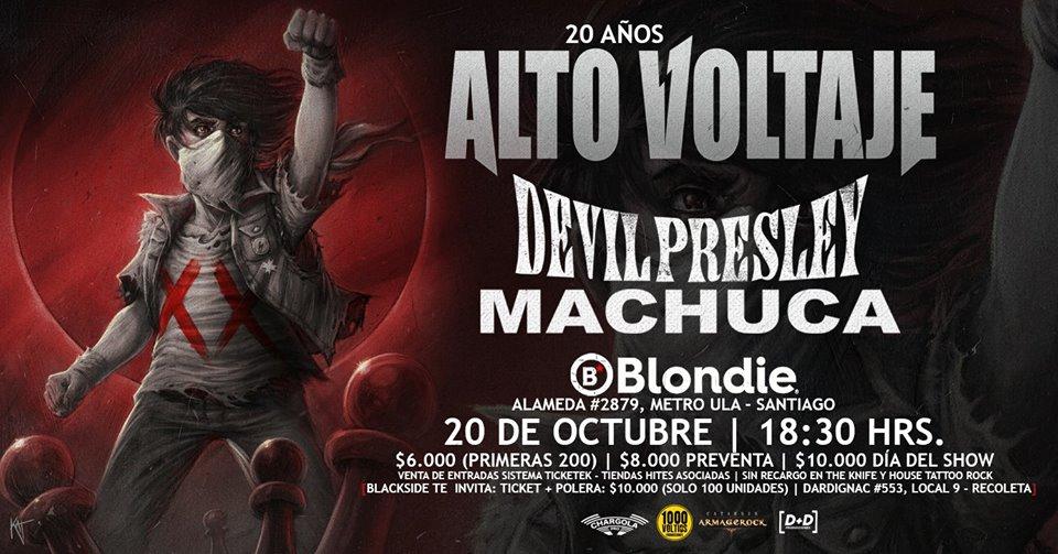 Alto Voltaje celebra 20 años con show en La Blondie (20 octubre)