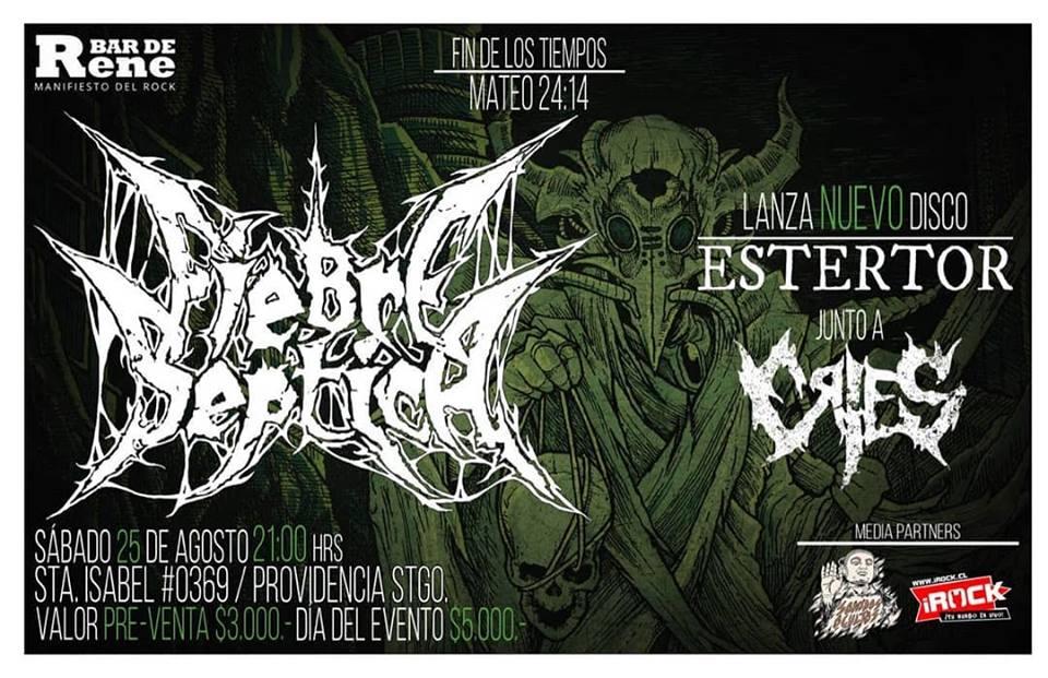 Fiebre Séptica anuncia lanzamiento de álbum «Estertor»