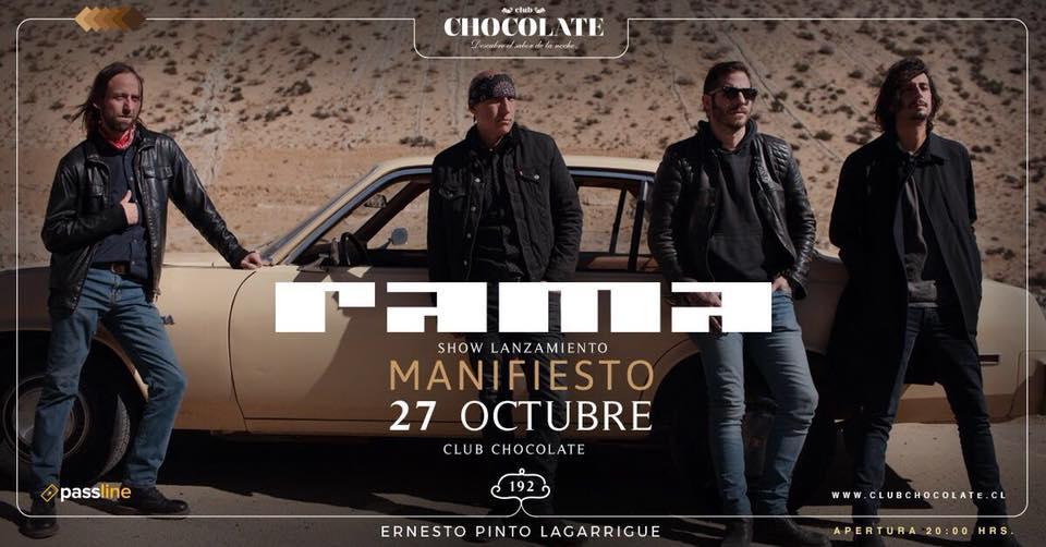 Rama anuncia lanzamiento de nuevo disco «Manifiesto»(27 octubre)