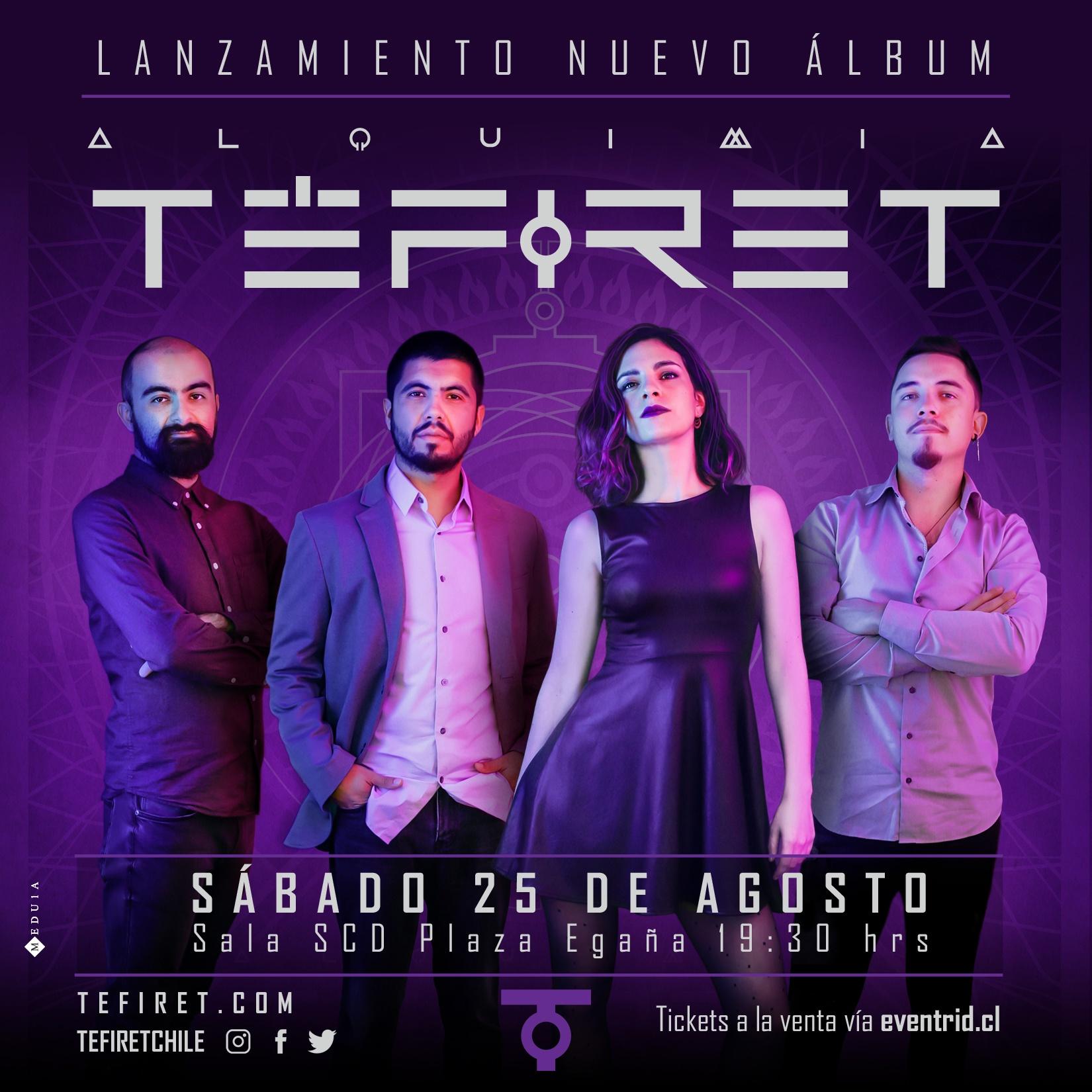Téfiret anuncia lanzamiento de disco «Alquimia»