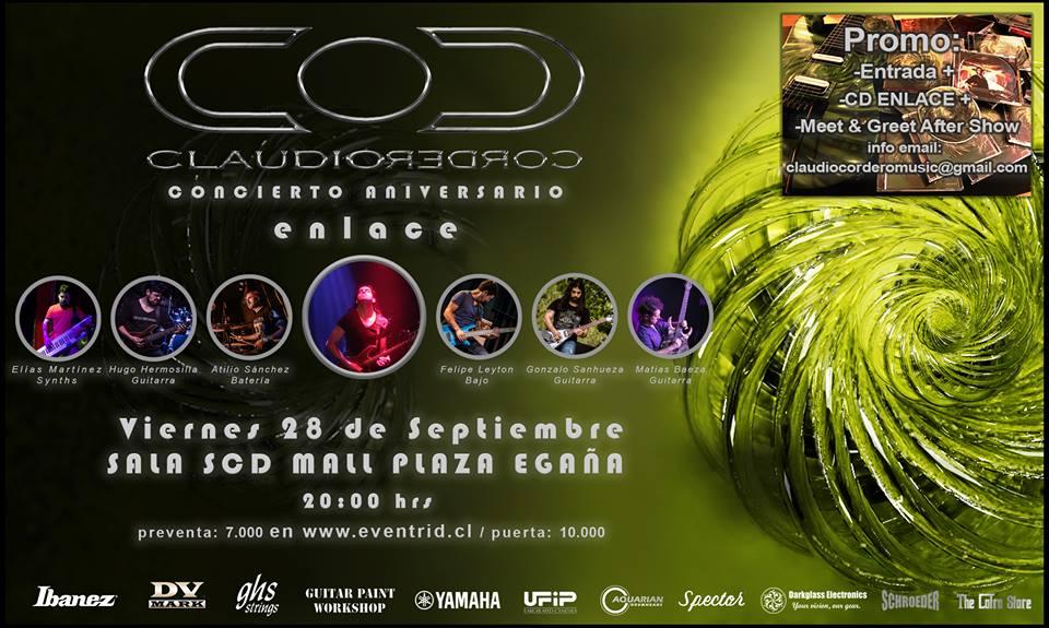 """Claudio Cordero anuncia show aniversario disco """" Enlace"""""""