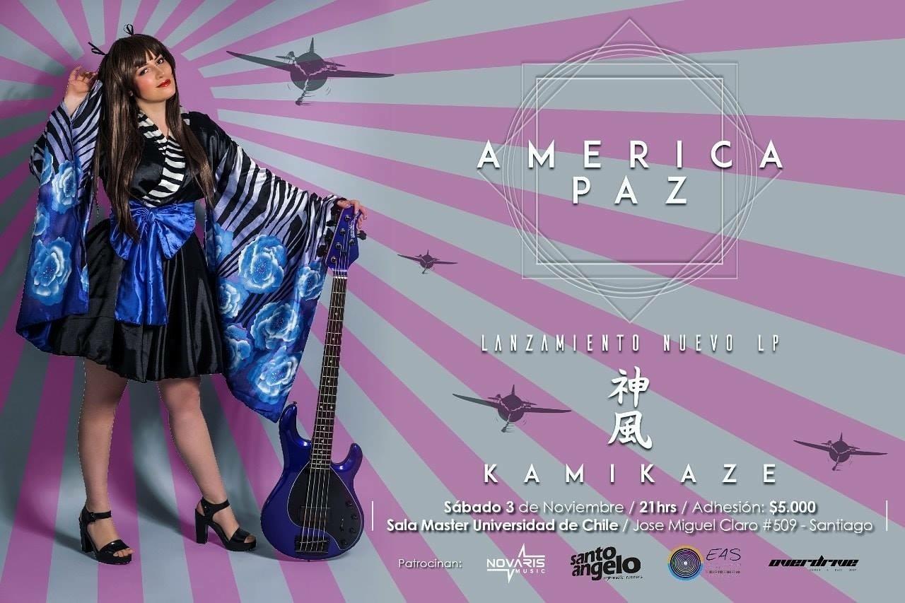 America Paz lanzará en vivo nuevo disco «KAMIKAZE»