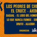 Los Peores de Chile, Aguaturbia y El Cruce, encabezan la celebración de 8 años de rock independiente