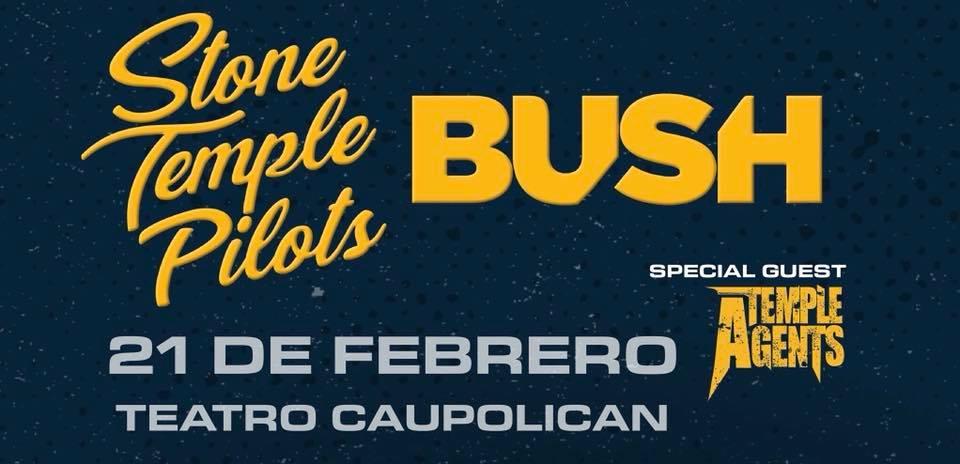 Stone Temple Pilots y Bush agotan localidades para su show de este jueves 21 de febrero