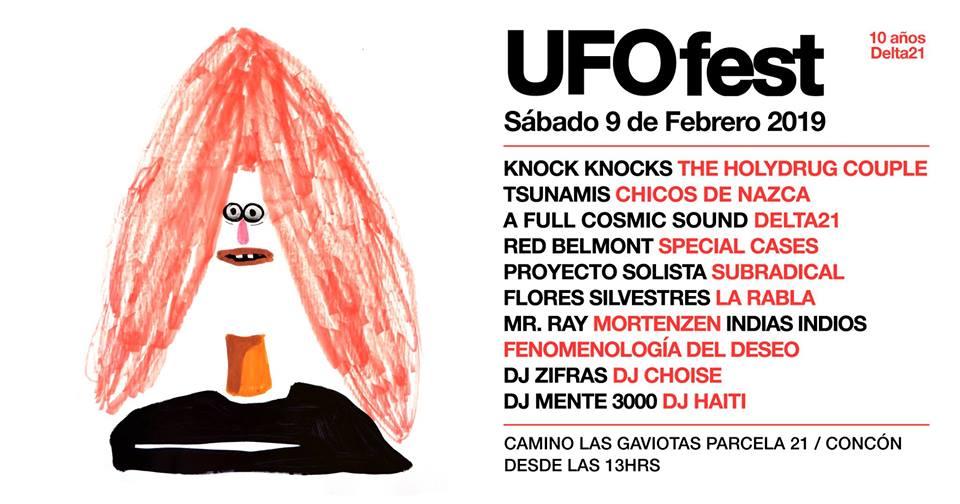 UFO FEST 2019 reunirá a bandas, proyectos electrónicos y DJ's en Concón este 9 de febrero