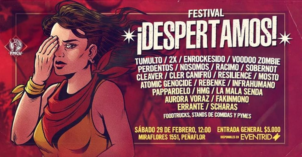 Fundación Músicos Chilenos Unidos realizará Festival ¡Despertamos! (29 Febrero)