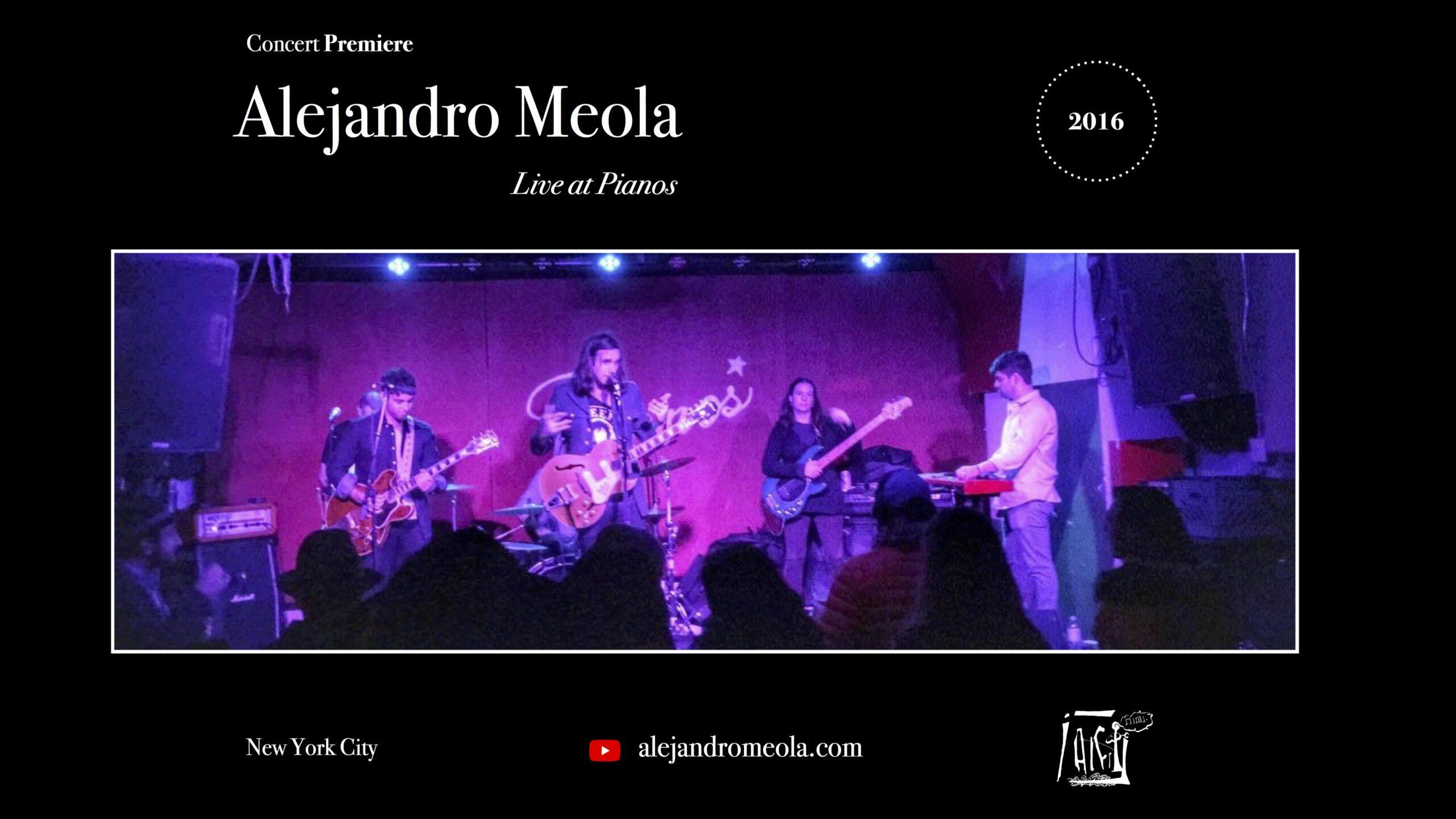 Alejandro Meola presenta concierto en Nueva York (EEUU)