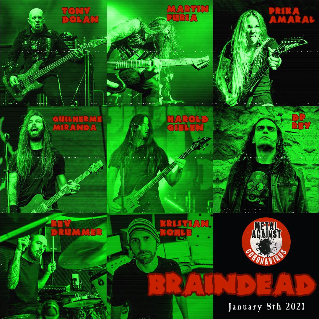 Metal Against Coronavirus | Miembros de Venom Inc, Nervosa, Bark y más presentan «Braindead» (2021)