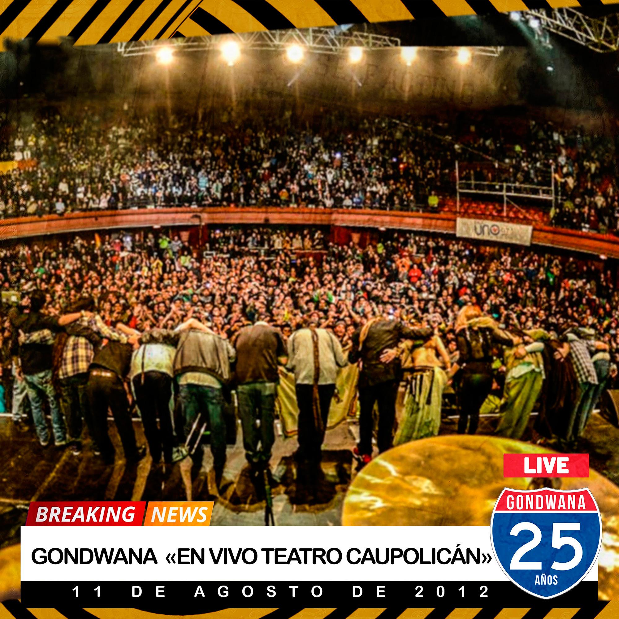 Gondwana libera disco en vivo en Teatro Caupolicán
