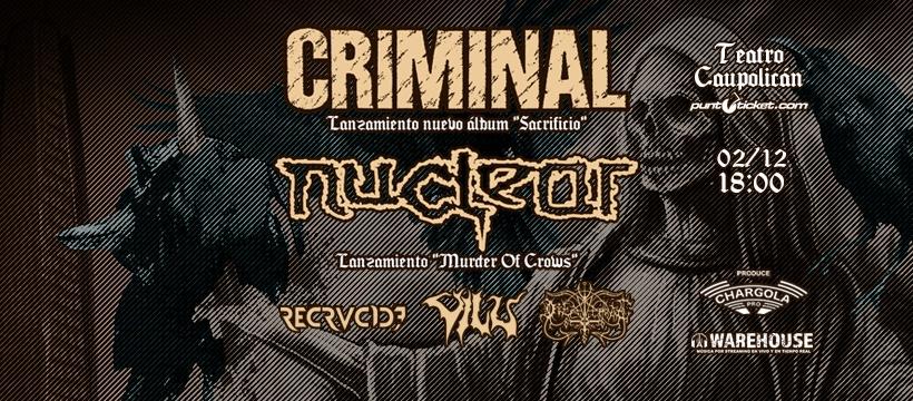 Criminal y Nuclear anuncian lanzamiento de discos en Teatro Caupolicán